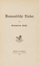 Hermann Hesse - Romantische Lieder