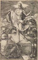 Albrecht Dürer - 3 Bll. aus der kl. Kupferstichpassion: Verrat + Beweinung + Auferstehung