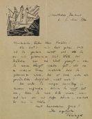 Lyonel Feininger - Eigenhändiger Brief. 1. Juni 1920