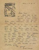 Lyonel Feininger - Eigenhändiger Brief. 10. Febr. 1923