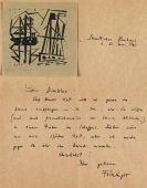 Lyonel Feininger - Eigenhändiger Brief. 31. Mai 1921