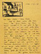 Lyonel Feininger - Eigenhändiger Brief. 17. Jan. 1927