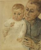 Liebermann, Max - Enkelin Maria auf dem Arm der Kinderfrau