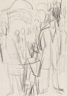 Ernst Ludwig Kirchner - Nächtliche Berliner Straßenszene