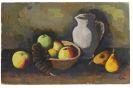 Karl Hofer - Stillleben mit Krug und Früchten in Schale