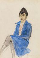Rudolf Schlichter - Frau mit blauem Kleid