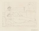 Picasso, Pablo - Vieux sculpteur et jeune modèle avec le portrait sculpté du modèle