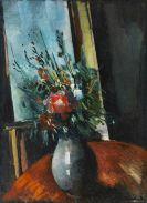 Maurice de Vlaminck - Bouquet de fleurs devant une fenêtre