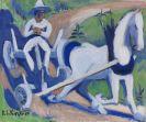 Kirchner, Ernst Ludwig - Bauernwagen mit Pferd