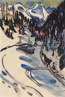 Ernst Ludwig Kirchner - Sertigtal im Winter
