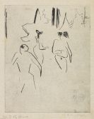 Ernst Ludwig Kirchner - Moritzburger Badende im Gestrüpp