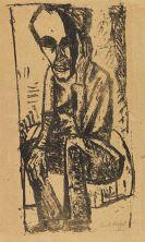 Erich Heckel - Mann mit schwarzer Binde