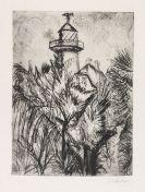Ernst Ludwig Kirchner - Leuchturm im Grünen, Fehmarn