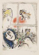 Marc Chagall - Paris de la fenêtre
