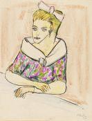 Hermann Max Pechstein - Junge Frau mit Haarschleife