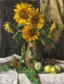 Georg Sluyterman von Langeweyde - Stillleben mit Sonnenblumen