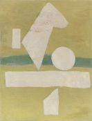 Willi Baumeister - Weißes Zeichen auf Hellgrün