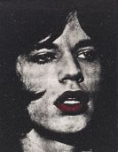 Russell Young - Mick Jagger + red lips / Reggie Kray, Do You Know My Name