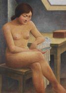 Georg Schrimpf - Mädchen mit Spiegel