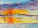 Nolde, Emil - Sonnenuntergang mit zwei Seglern
