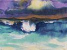 Emil Nolde - Sturzwelle unter violettem Himmel