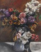Lovis Corinth - Rosen, Tulpen und Flieder