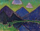 Gabriele Münter - Blick aufs Murnauer Moos (Blaue Berge)