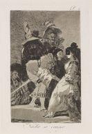 Goya, Francisco de - 5 Aquatintaradierungen aus: Los Caprichos