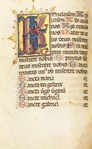 Manuskripte - Stundenbuch. Pergamenthandschrift, Italien 1494