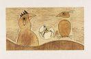 Max Ernst - Deux Oiseaux (ocre)
