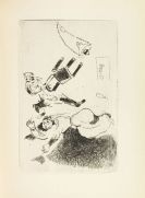 Marc Chagall - 4 Werke (Odyssee 1989, Maternité 1926, Klokken 1956 und Ma vie 1957 mit Widmung)