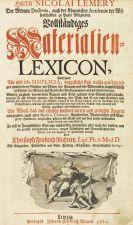 Nicolas Lemery - Vollständiges Materialien-Lexicon