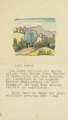 Hermann Hesse - Masch. Brief an Caro amico (Hubacher) mit Orig.-Aquarell