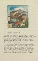 Hermann Hesse - Masch. Brief an Hubacher mit Orig.-Aquarell
