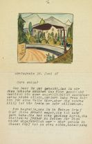 Hermann Hesse - Masch. Brief an Caro amico (Hubacher), Juni 1927, mit Orig.-Aquarell