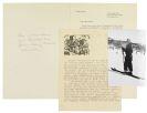 Hermann Hesse - 2 Privatdrucke + 1 masch. Brief mit Holzschnitt + 1 Porträtfoto