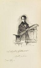 Alfred Kubin - Zwei Blätter Entwurfszeichungen für Exlibris + Beigaben