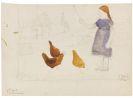 Modersohn-Becker, Paula - Elsbeth mit Hühnern