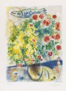 Marc Chagall - Roses et mimosas