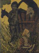 Otto Mueller - Zigeunerfamilie am Planwagen