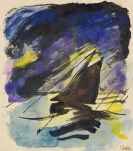 Emil Nolde - Segelboot im Wind