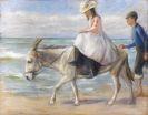Max Liebermann - Kind, auf einem Esel reitend
