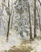 Max Slevogt - Verschneiter Waldweg