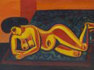 Josef Scharl - Liegender Akt I (Exotic Nude)
