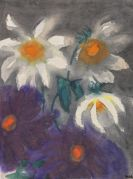 Emil Nolde - Violette und weiße Dahlien