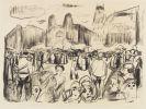 Edvard Munch - Frankfurter Bahnhofsplatz under Rathenaus likferd (Volksauflauf auf dem Frankfurter Bahnhofsplatz während Rathenaus Begräbnis)