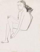 Ernst Ludwig Kirchner - Sitzendes Mädchen