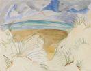 Erich Heckel - Blick über die Dünen aufs Meer