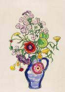 Gabriele Münter - Sommerblumenstrauß mit rotem Mohn und Phlox