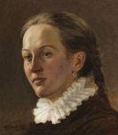 Trübner, Wilhelm - Porträt einer jungen Frau